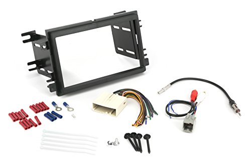 Install Centric ICFD6BN Compatible with Select Ford/Linc/Merc 2004-08 Double DIN, Premium Sound Complete Basic Installation Solution for Installing an Aftermarket Stereo