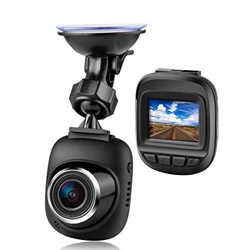 Explon Mini Dash Camera - 1080P Full HD Car Dashboard Recorder, 1.5' LCD, Wide Angle, GPS G-Sensor, Loop Recording, WDR Night Vision, Uber Cars