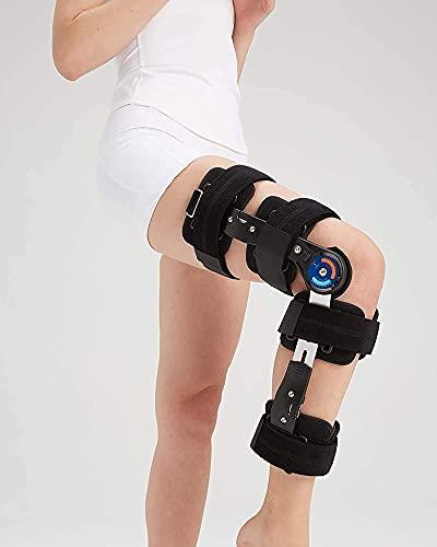 Rodillera ajustable de la rótula de la rótula de la aleación de aluminio Rodillera de fijación de la articulación de la rodilla Rodilleras de rehabilitación para la férula de envoltura ortopéd