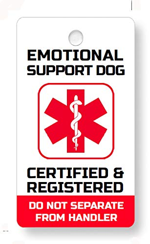 Just 4 Paws Emotional Support Dog Key & Collar Tag for FHact ESA (Emotional Support ES21)