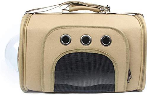 Sywlwxkq Pet Sling Bag, Huisdier Rugzak/Inklapbaar/Canvas/Reiziger/Handtas/Transparant/Grote Ruimte/Ademend/Comfortabel/Duurzaam/Waterdicht/Verstelbaar, kaki