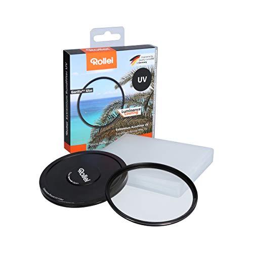 Rollei Extremium UV Round Filter 62 mm - Filtro UV y filtro protector con anillo de titanio de vidrio Gorilla con recubrimiento especial - Tamaño: 62 mm
