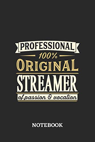 Professional Original Streamer Notebook of Passion and Vocation: 6x9 inches - 110 graph paper, quad ruled, squared, grid paper pages • Perfect Office Job Utility • Gift, Present Idea