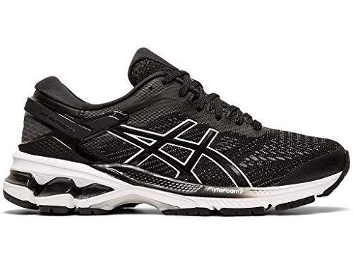 ASICS Women's Gel-Kayano 26 Running Shoes, 8.5M, Black/White