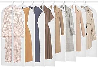 Housses de Vêtements (137 / 128 / 100 x 60 cm), Lot de 8 Couverture PEVA Matériel Lavable Transparent Anti Poussière Etanc...