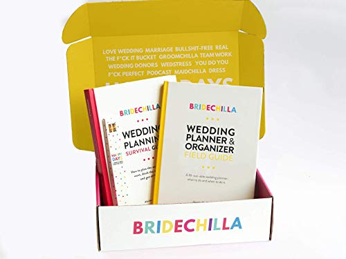 Bridechilla Wedding Planner Guide and Pencil Gift Pack | Ideal Engagement Gift for Couples | checklists & Timelines | Wedding Planning Book Journal