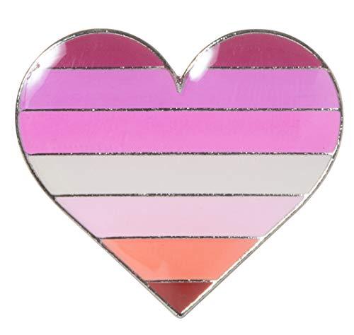 Artisan Owl Lipstick Lesbian Pride Flag Heart Lapel Hat Pin (1 pin)