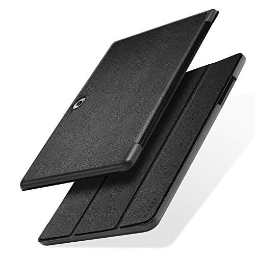 JundD Kompatibel für Acer Iconia One 10 (B3-A50) Hülle, Acer Iconia One 10 (B3-A50) Heavy Duty Schutz Stoßfest Hülle Cover mit Auto-Sleep / Wake Funktion - Schwarz