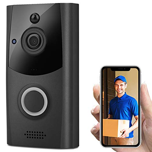 Ronshin Electronics & Accessoires Wireless Smart WiFi DoorBell IR Video Visual Ring Camera Intercom Home Security