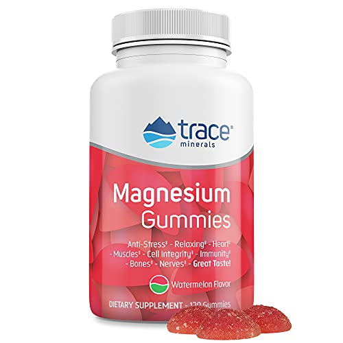 Magnesium Stress Relief Gummies (120 Ct)   Easy to Take Magnesium Citrate   Natural Calming Sleep Aid, Muscle Relaxer, Mood & Digestive Support Supplement   Great for Kids & Adults (Watermelon Flavor)