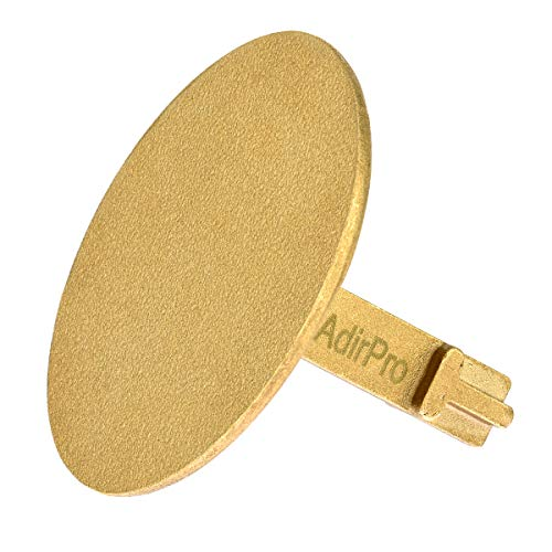 AdirPro Survey Markers – Durable Solid Brass & Low Profile Permanent Boundary Marking Caps/Stakes – for Surveying & Measuring Property & Land Area (3 Inch, Flat)
