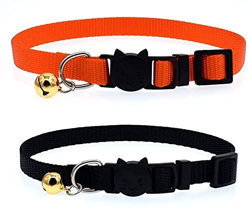 QIXIAOCYB 6 unids Collar Ajustable Mascota con pequeñas Campanas Collares Personalizados para Gatito Gatito Gatito Cachorro
