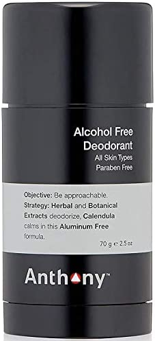 Anthony Alcohol Free Deodorant 2 5 Fl Oz Contains Calendula Wild Mint Herbal and Botanical Extracts product image