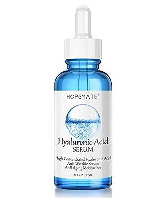 Hyaluronic Acid Skin Care Serum, HOPEMATE H Natural Botanical Serum Serum, 5% Pure Hyaluronic Acid Face Serum, revitalize, Hydrates, Plumps Skin, Anti Aging, Wrinkle Serum,Repairs Damage Skin