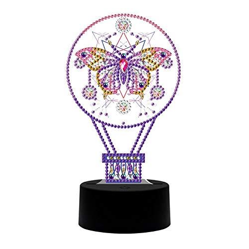 LAOLEE Nueva lámpara DIY LED diamante pintura noche luz dibujos animados animales especial lámpara niño luces de noche para dormitorio