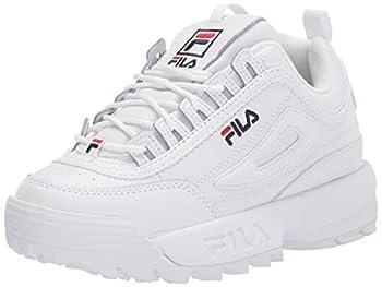 Fila womens Fila Women s Disruptor Ii Premium Sneaker White/Navy/Red 8.5 US