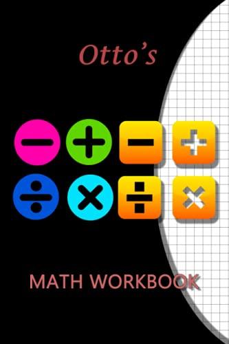 Otto's Math WorkBook: Otto Personalised Custom Maths / Graph paper / Grid / Geometric 6x9 - Symbol Theme