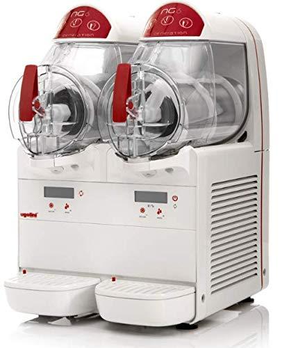 Máquina para granizados sorbetes cremas frías UGOLINI NG6/2 ELETTRONIC – 2 recipientes de 6 litros – Dispensador Made in Italy