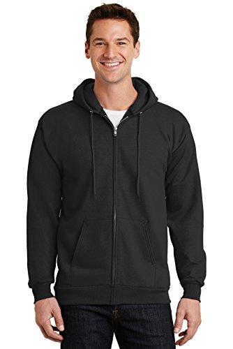 Port & Company - Youth Core Fleece Full-Zip Hooded Sweatshirt. PC90YZH