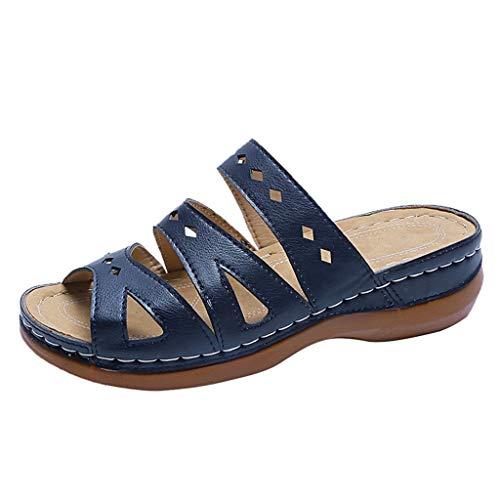 Sandalias para Mujer, 2020 Sandalias de Vestir Zapatos de Plataforma Cuña Playa Zapatillas Sandalias de Punta Abierta Casual Fiesta Roman Tacones Altos Chanclas Sandalias