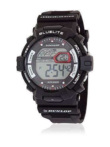Dunlop Unisex Erwachsene Digital Quarz Uhr mit Gummi Armband DUN212G01