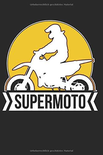 Supermoto: Notizbuch | DIN A5 | 100+ Seiten | liniert | mattes Softcover | für Supermotofahrer | Motorrad | SM MX Biker