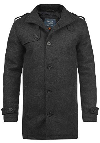 Blend Warren Herren Winter Mantel Wollmantel Lange Winterjacke mit Stehkragen, Größe:XL, Farbe:Charcoal (70818)