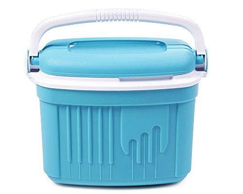 Ondis24 Kühlbox, 8 Liter, 36 x 21 x 28 (H) cm, Thermobehälter Auto, Kühltruhe, Eisberg, thermoisoliert, blau