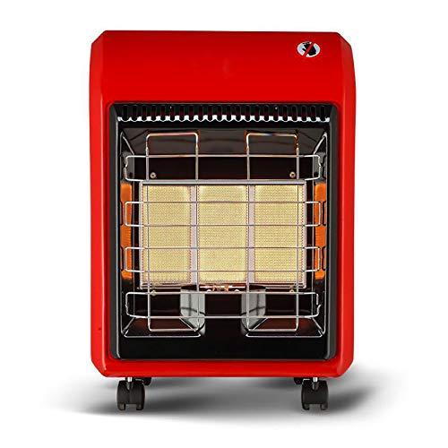 UELEGANS Calentador a Gas, 4200W Calentador Calefactor Portatil, Mini Heater Cerámico Oscilación Automática y Función Silenco, Termoventilador,Gas licuado