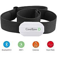 CooSpo Monitor Sensor Banda de Frecuencia Cardiaca Bluetooth 4.0 Ant + para Garmin Polar Wahoo Endomondo Zwift y Otros
