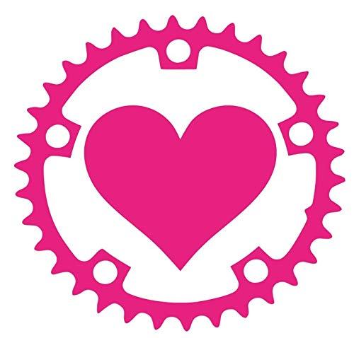 "SixtyTwo24 Heart Bicycle Crank- 5"" Decal {PINK} Sticker, heart Bike Crank sticker, Mountain Bike, Pivot, Yeti, Kona, GT, Cannondale, Trek, Santa Cruz, Scott, Specialized, BMX, sticker kit, fat tire -  0141"