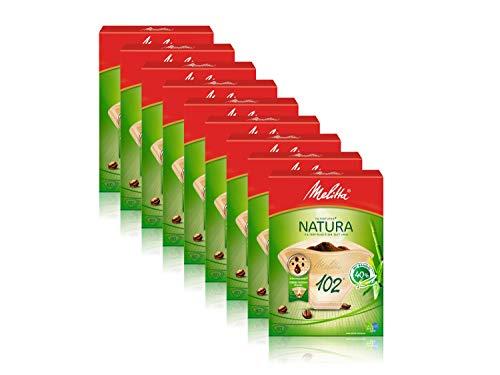 Melitta Filtertüten 102/80 Natura naturbraun Aroma, 9er Pack (9 x 80 Stück)
