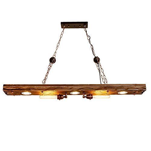 Bkrred Suspensión luz de techo retro creativo de la lámpara de la palmatoria de madera Franja de Pista luminaria lineal LED for la luz de techo de la sala decorativo iluminación pendiente de la lámpar