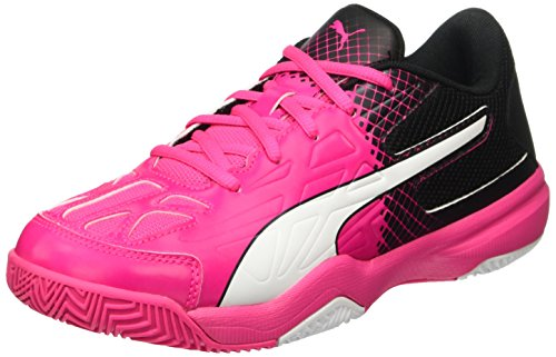 PUMA Damen Evospeed Indoor 5.5 WN's Fußballschuhe, Pink (Pink Glo-White-Black 01), 37 EU