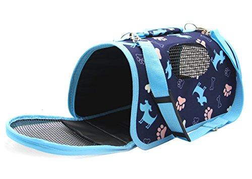 BPS® BPS-5637A - Trasportino in tessuto per animali domestici, cani e gatti, 3 misure S/M/L a scelta (M, blu)