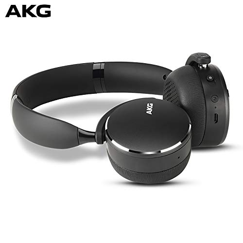 AKG Y500 On-Ear Foldable Wireless Bluetooth Headphones - Black (US Version)