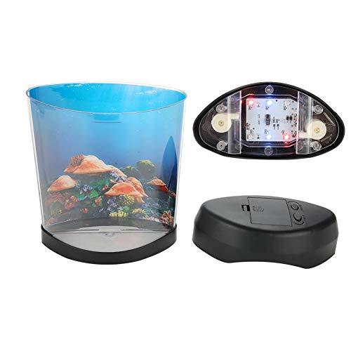 Tnfeeon LED Medusa Artificial de Acuario Luz USB Pecera Lámpara Nocturna Portátil...