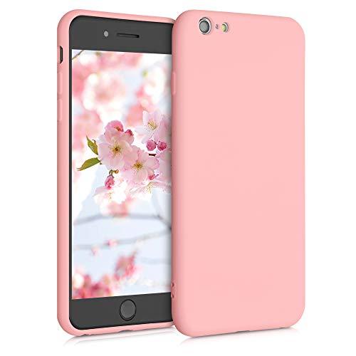kwmobile Funda Compatible con Apple iPhone 6 Plus / 6S Plus - Carcasa de Silicona TPU para móvil - Cover Trasero en Rosa Pastel Mate