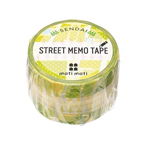 mati mati series 地図ステーショナリー マスキングテープ STREET MEMO TAPE/仙台(宮城) 10個セット 8BC094H0A