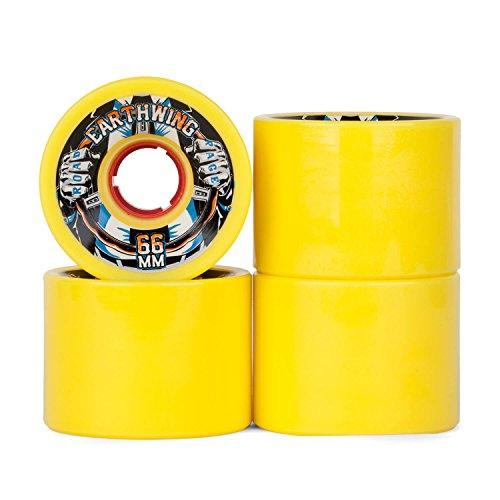 Earthwing Road Rage Longboard Rollen 87A - 66mm - gelb - Cruiser Wheels