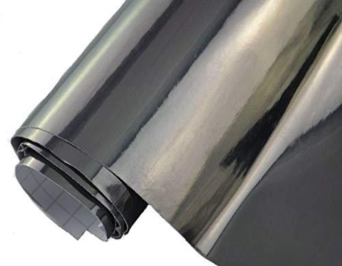 8,70€/m² Auto Folie - Chrom schwarz - selbstklebend BLASENFREI flexibel Car Wrapping Klebefolie folieren