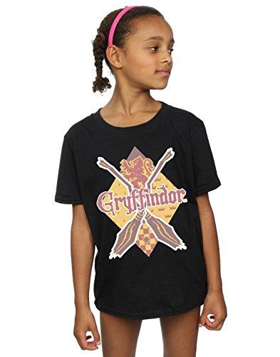 HARRY POTTER niñas Gryffindor Lozenge Camiseta 12-13 Years Negro