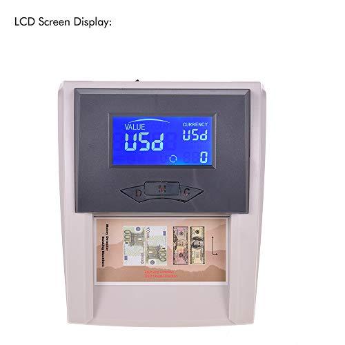 QWERTOUY Portable Desktop Abzählbare Automatische Geld-Detektor Falschgeldwährung Banknotenprüfer Tester mit LCD-Display