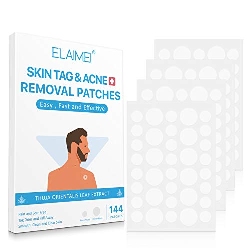 Skin Tag Remover Patches(144 Pcs), Acne Remover Patches,Mole Remover Patches,Suitable for All Skin Types with Advanced and Newly Improved Formula, Covers and Conceals Tags, Dries Immediately