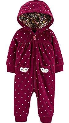 Carter's Baby Girls' 1 Pc 118g631 (9 Months, Owl/Burgundy)