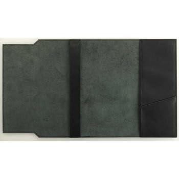 スムース革(牛本革)ブックカバー文庫サイズ ブラック