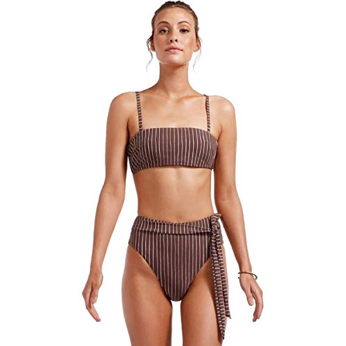 Vitamin A Mila Bikini Top - Women's Cigar Stripe, M
