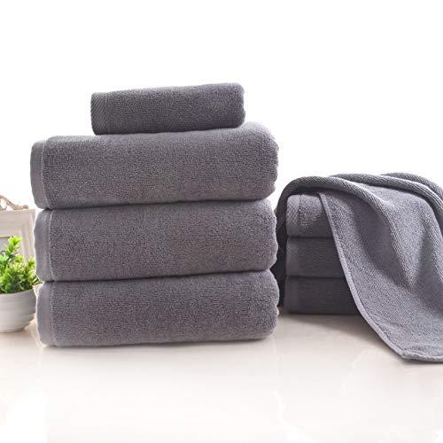 DOROCH Toallas de Lujo, Toalla de baño de algodón Gris Toalla de Cara en el baño Toallas Toallas de baño for Adultos (Color : 80x180(600g))