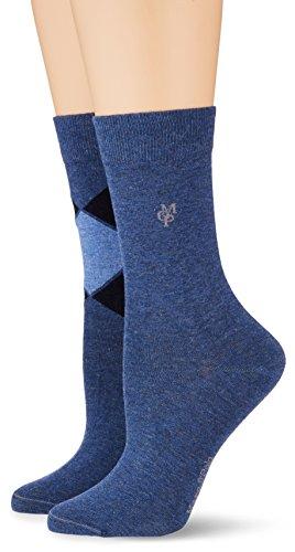 Marc O'Polo Body & Beach MATHILDA Damen Socken, Blau (Jeansblau 816), 39/42 (Herstellergröße: 403)