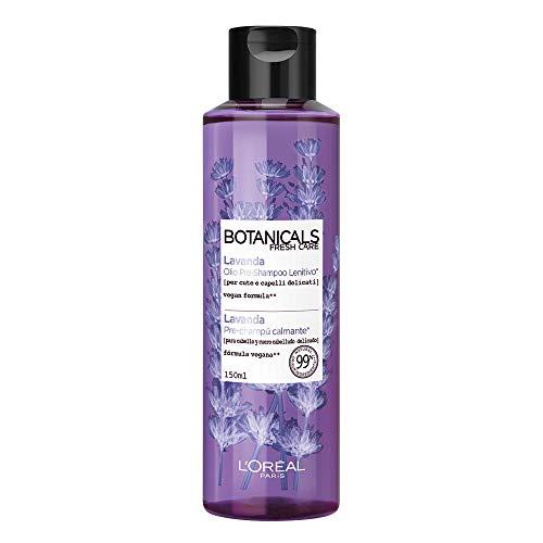 L Oréal Paris Botanicals Lavanda Olio Pre-Shampoo Idratante per Capelli Delicati, senza Siliconi, senza Parabeni, senza Coloranti, 150 ml
